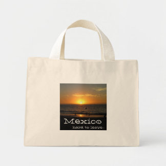 Mexican Sunset; Mexico Souvenir Mini Tote Bag