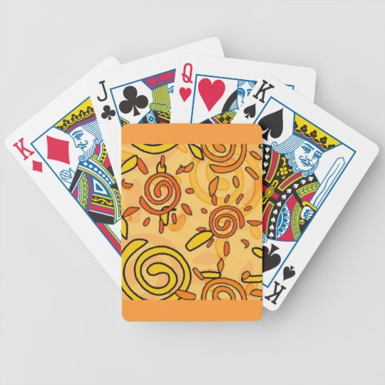 MEXICAN SUNSETS CARTOON ART SUN SWIRLS BACKGROUNDS BICYCLE PLAYING CARDS