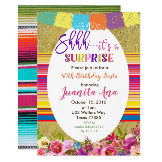 Mexican Surprise Birthday Party Invitation