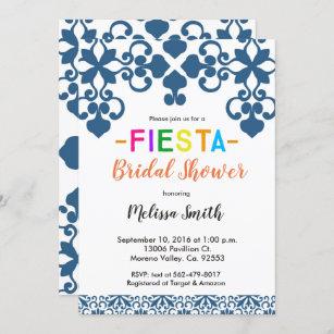 Talavera Spanish Tile Mexican Fiesta Wedding Invitation