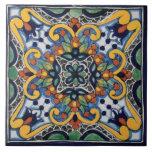 """Mexican Talavera Design Ceramic Photo Tile<br><div class=""""desc"""">decorative mexican talavera design</div>"""