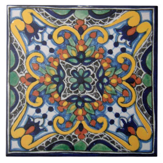 Mexican Talavera Design Ceramic Photo Tile