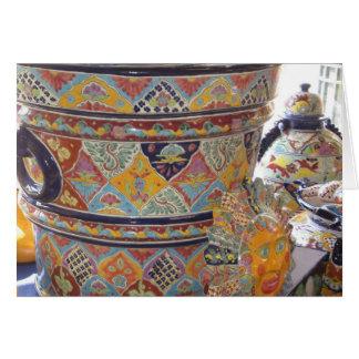 Mexican Talavera style pottery Card