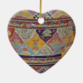 Mexican Talavera style pottery Ceramic Ornament