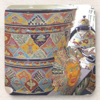 Mexican Talavera style pottery Coaster