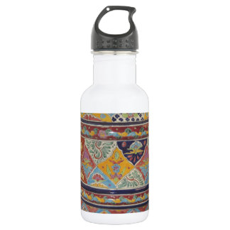Mexican Talavera style pottery 18oz Water Bottle