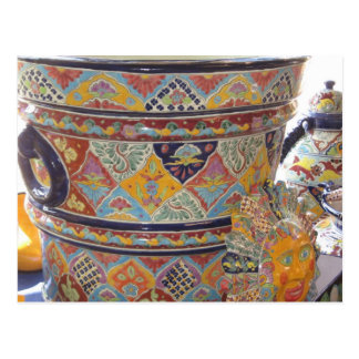 Mexican Talavera style pottery Postcard