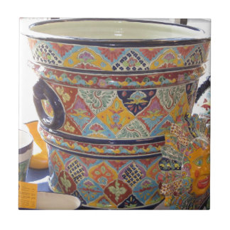 Mexican Talavera style pottery Small Square Tile