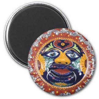 Mexican Talavera style sun Magnet