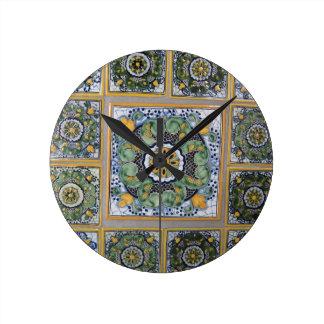 Mexican Talavera style tiles Clock