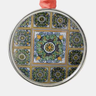 Mexican Talavera style tiles Metal Ornament