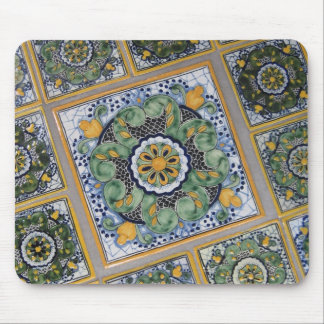 Mexican Talavera style tiles Mouse Pads