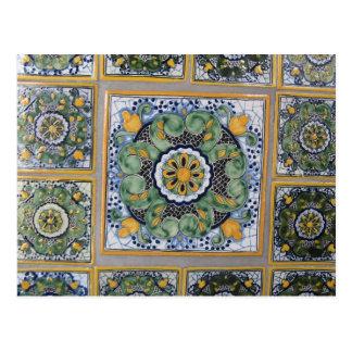 Mexican Talavera style tiles Postcard