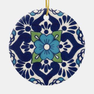 Mexican Talavera Tile Ceramic Ornament