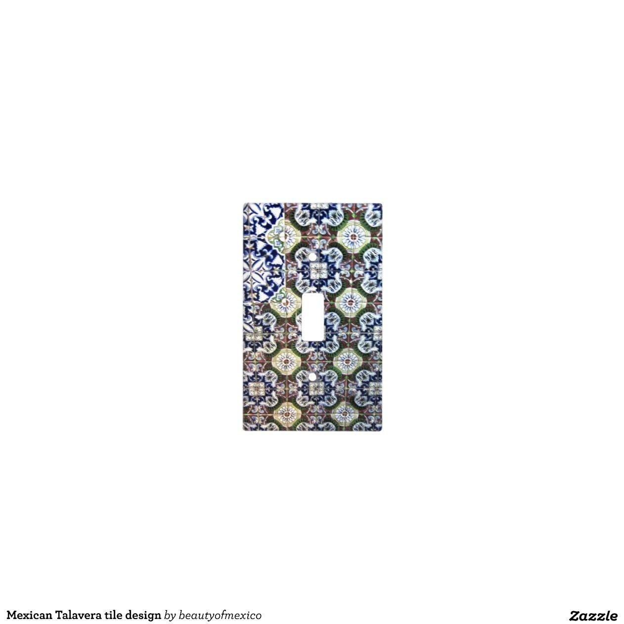 Mexican Talavera Tile Design Light Switch Plates Zazzle