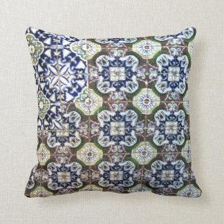 Mexican Talavera tile design Pillow
