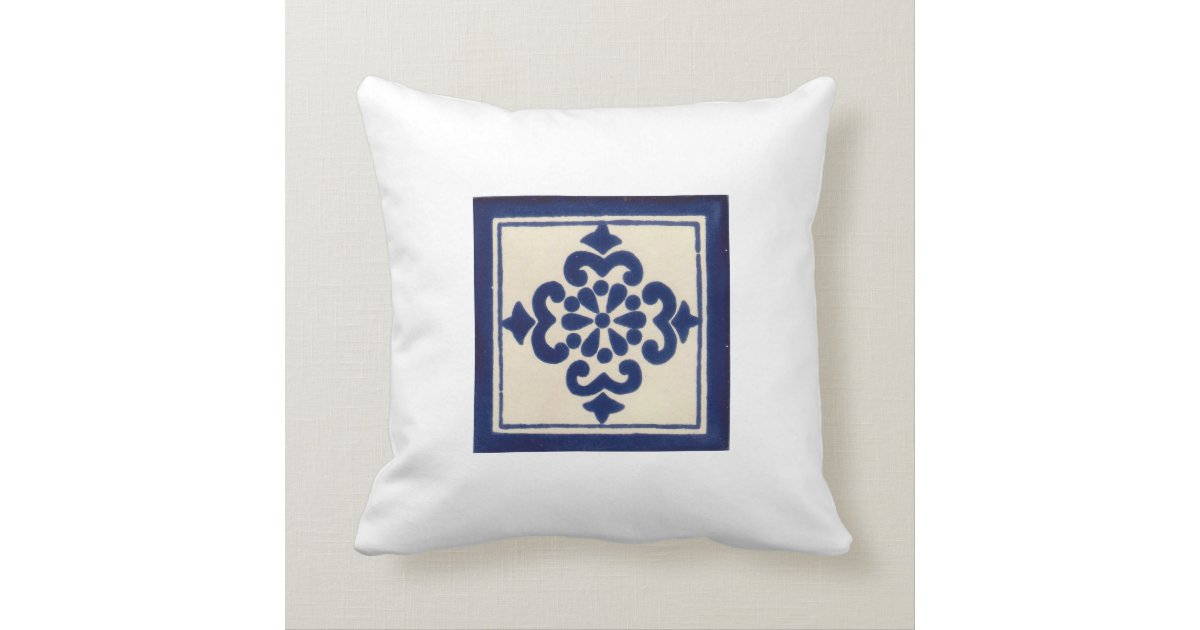 Mexican Talavera Tile Double Sided Throw Pillows Zazzle