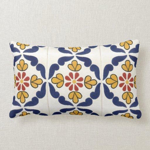 Mexican Talavera Tile Double Sided Throw Pillows Zazzle