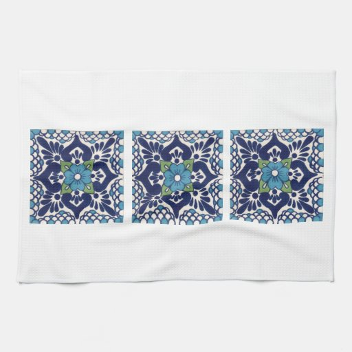 Mexican Talavera Tile Kitchen Towel