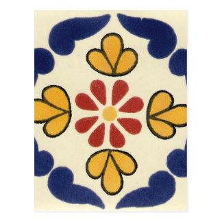 Mexican Talavera Tile Postcard