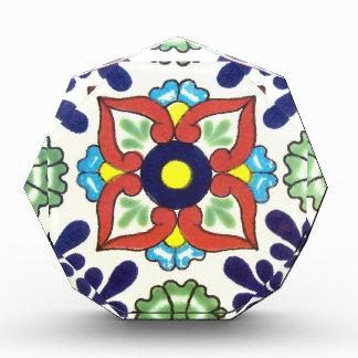 Mexican Talavera tile (red, green, yellow, blue) Awards