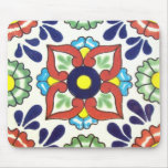 Mexican Talavera tile (red, green, yellow, blue) Mousepad
