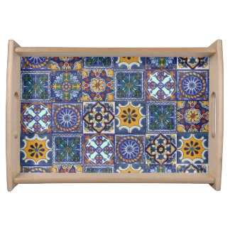 Mexican Talavera Tiles Serving Tray