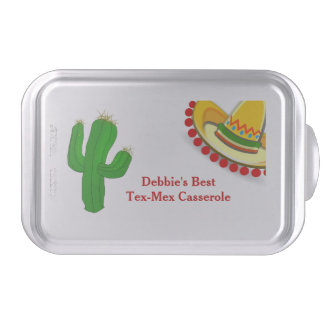 Mexican Theme Casserole Covered Pan Cake Pan