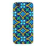 Mexican Tile Design Teal Yellow Floral Print Case For iPhone 5/5S
