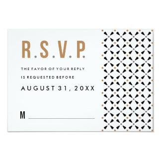 Mexican Tile Neutral Modern Wedding Rsvp Cards