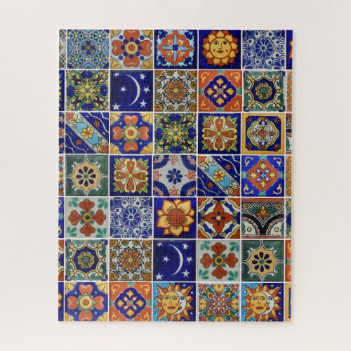 Mexican Tile Puzzle Template or USE YOUR PHOTO