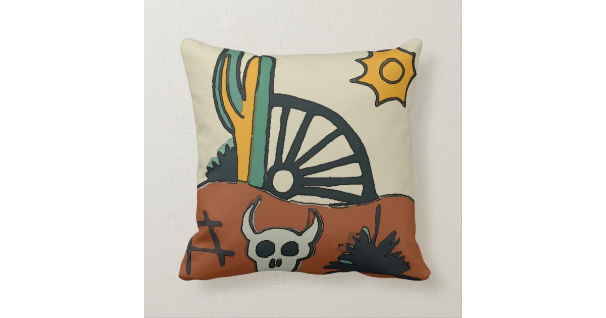 Mexican Tile Western Desert Throw Pillow Zazzle Com