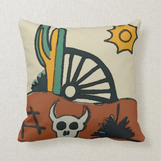 Mexican Tile Western Desert Throw Pillow