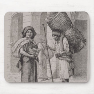 Mexican Tortillera and Straw Mat Seller Mouse Pad