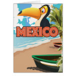 Mexican Toucan Beach Travel Poster.