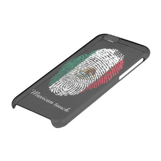 Mexican touch fingerprint flag clear iPhone 6/6S case