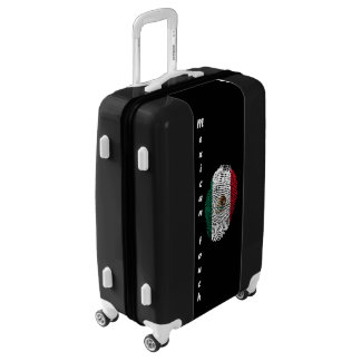 Mexican touch fingerprint flag luggage