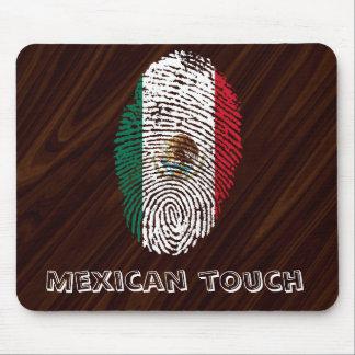 mexican touch fingerprint flag mouse pad