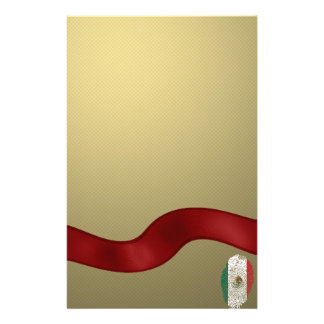Mexican touch fingerprint flag stationery