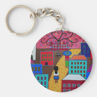 Mexican Town by Prisarts Keychain