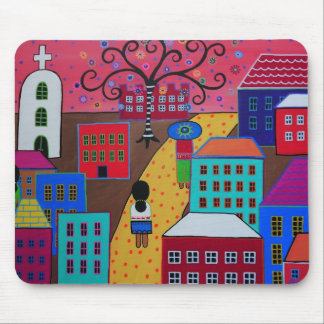 Mexican Town by Prisarts Mouse Pad