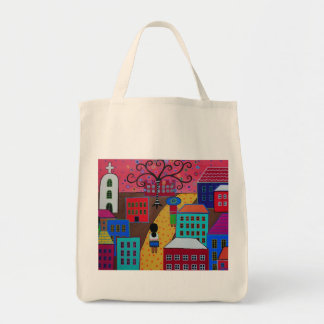 Mexican Town by Prisarts Tote Bag