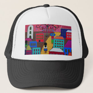 Mexican Town by Prisarts Trucker Hat