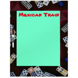 Mexican Train Score Board Dry-Erase Board