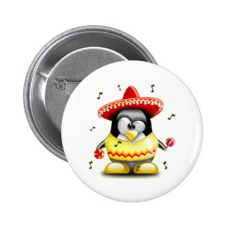 Mexican Tux 2 Inch Round Button