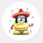 Mexican Tux Classic Round Sticker