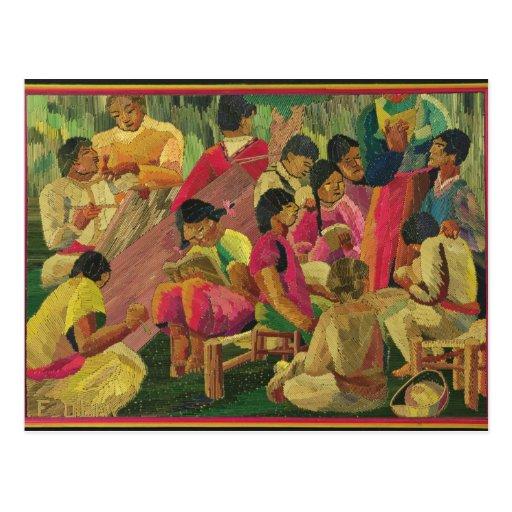 Mexican village scene post card