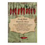 Mexican Vintage  Rustic Peppers Wedding Invitation