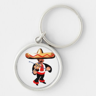 mexican violin player keychain