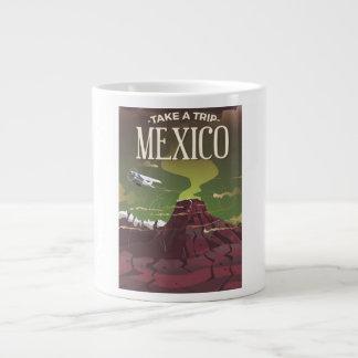 Mexican Volcano vintage travel poster Giant Coffee Mug